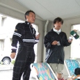 スタート前『福崎選手』とサービスの『門田選手』のミーティング!